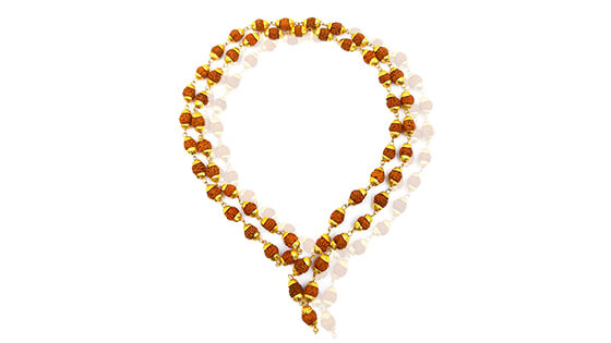 Rudraksha Mala-Metal Covered