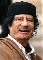 What might be the fate of Gaddafi