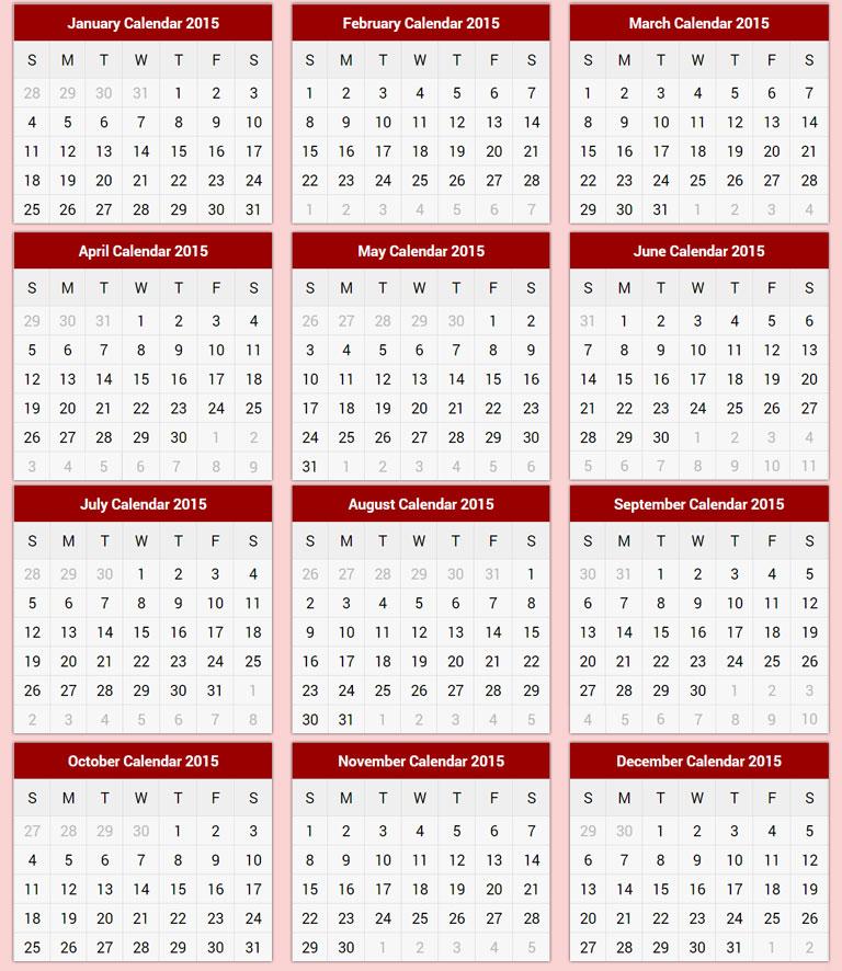 Zodiac Calendar Templates