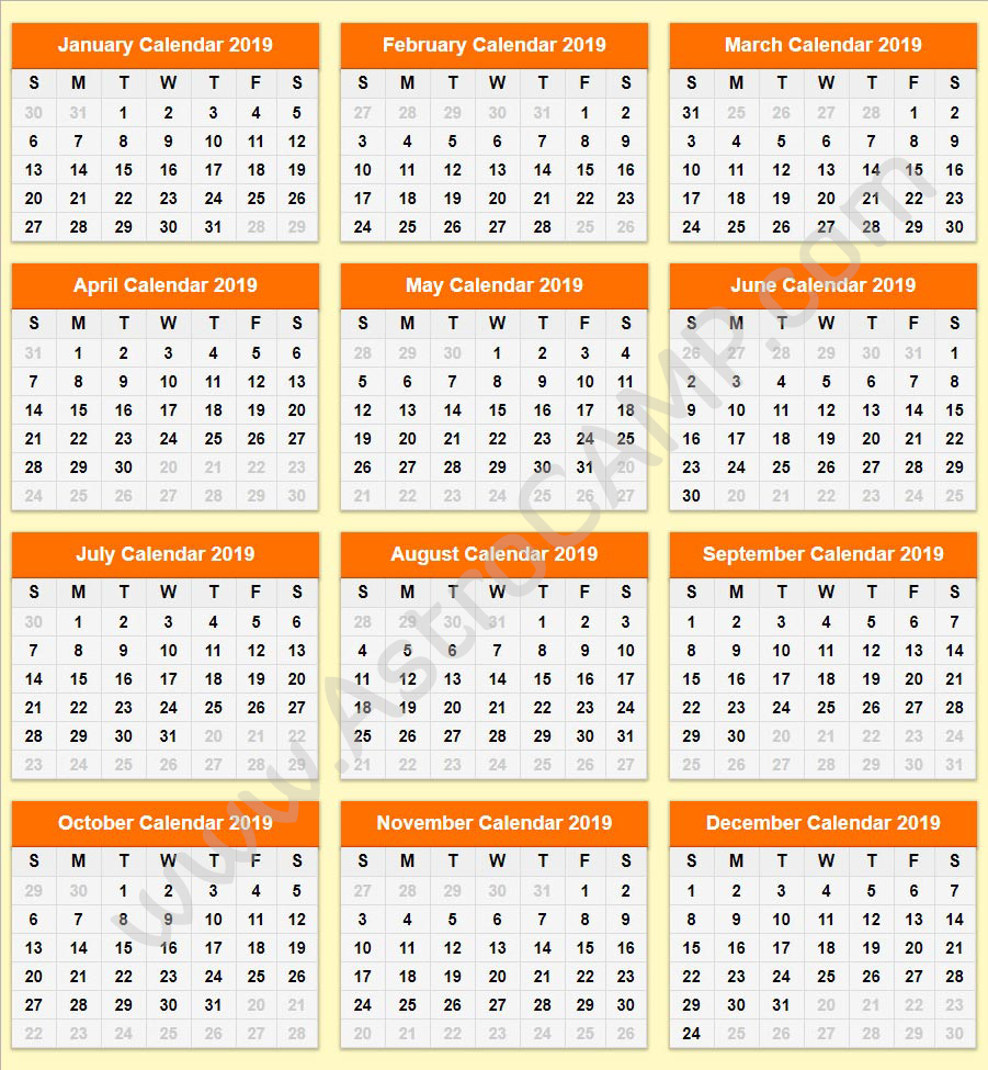 Printable Calendar 2019 Download Free Printable Calendar