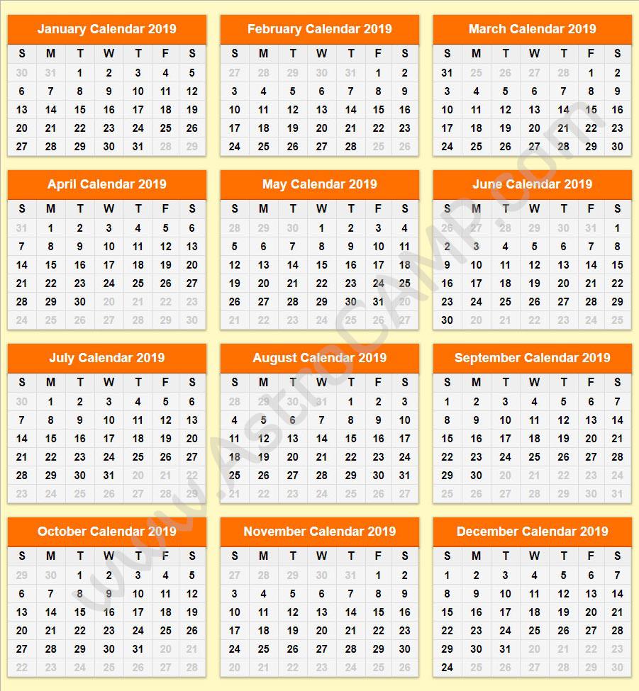 Roman Calendar 2019 Printable Calendar 2019: Download Free Printable Calendar