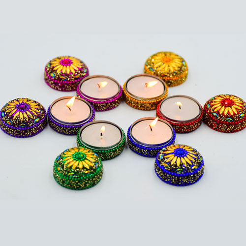 Decorative T-Lights (Decorative Diya) - Set of 6 Pieces
