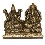 Ashtdhatu Laxmi Ganesh - Lakshmi Ganesha idol
