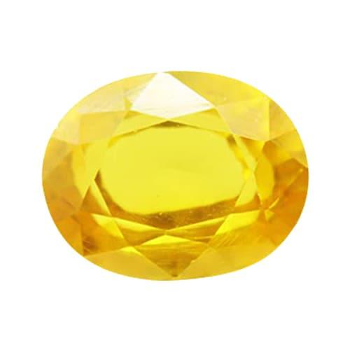 Yellow Sapphire  Pukhraj (7 Carat) - Lab Certified