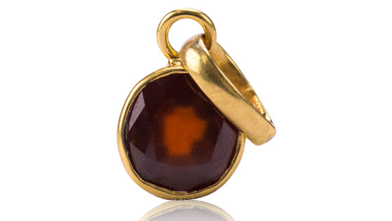 Hessonite Pendant